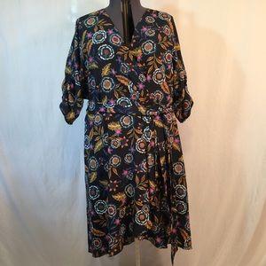 ELIZA J | faux wrap floral dress